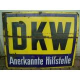 DKW Emailleschild , gro