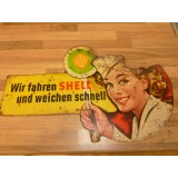 Shell  Blechschild