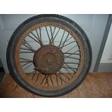 Wulstrad 26 x 2,85, Vorkrieg, 40 Loch mit  Dunlop Cord Ballon Bereifung