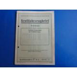 Zugmaschine Fordson Bj.1929 - alter Kfz Brief