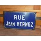 """Emailleschild """" RUE JEAN MERMOZ"""" Pariser Straßenschild"""