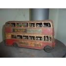 Doppeldeckerbus - Englisch - Blech 30cm lang
