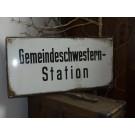 Emaileschild Gemeindeschwesternstation 60 x 30 cm