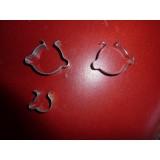 Lenkerclip,Gepäckträgerclip vernickelt oder verzinkt
