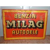 Benzin - Milag - Autoöle - AG Berlin - Blechschild 69,5x49cm