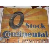 Blechschild Stock Continental 84 x 118 cm