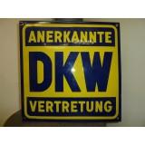 DKW Emailleschild 48 x 48 cm